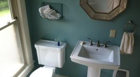 Shared Modern Bath with Soaking tub and Shower
